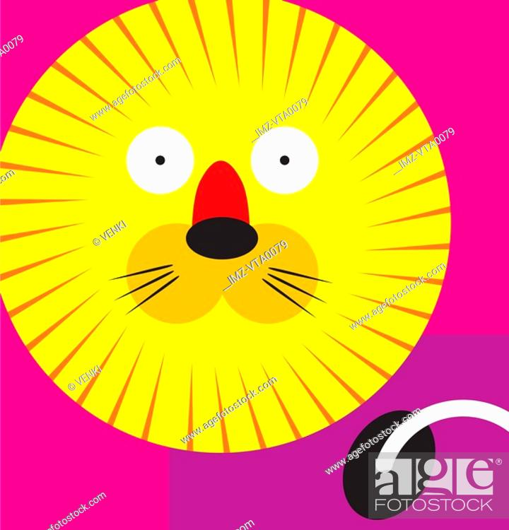 Stock Photo: A Leo lion.