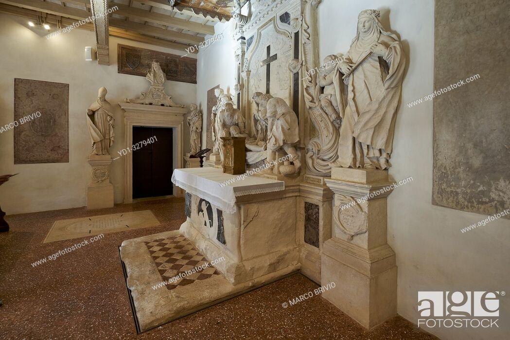 Stock Photo: Vicenza, Veneto, Italy. Santa Corona is a Gothic-style, Roman Catholic church located in Vicenza, region of Veneto, Italy.