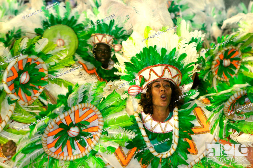 Stock Photo: Woman dancing at Carnival, Rio de Janeiro.