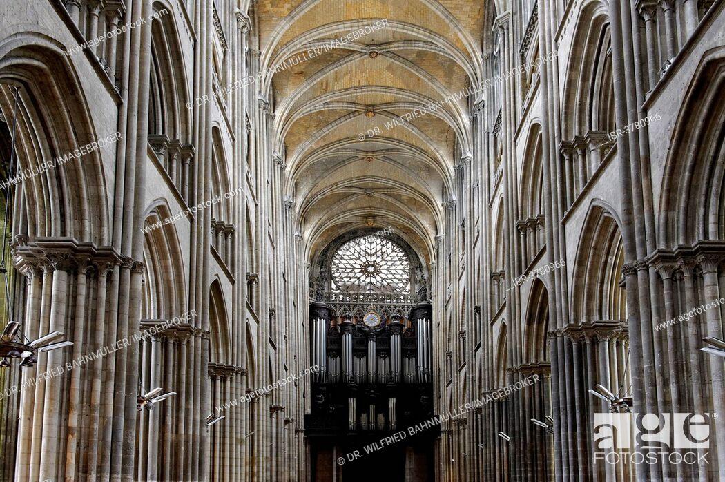 Stock Photo: Rouen Cathedral, Rouen, Département Seine-Maritime, Haute-Normandie Region, France.