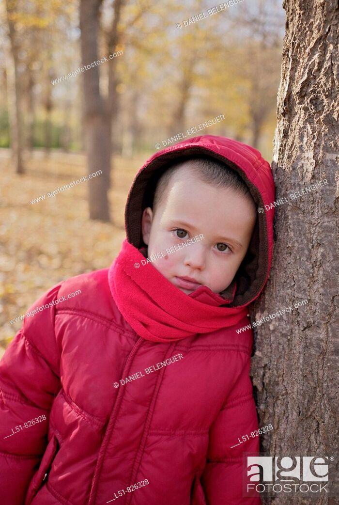 Stock Photo: Boy on Rampleta park, Valencia city, Valencia, Comunidad Valenciana, Spain, Europe.