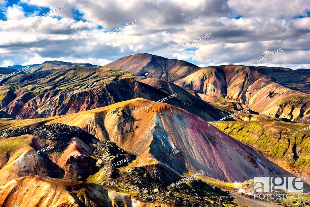 Stock Photo: Brennisteinsalda, Landmannalaugar, Mountains, Highlands, View, Iceland, Europe.