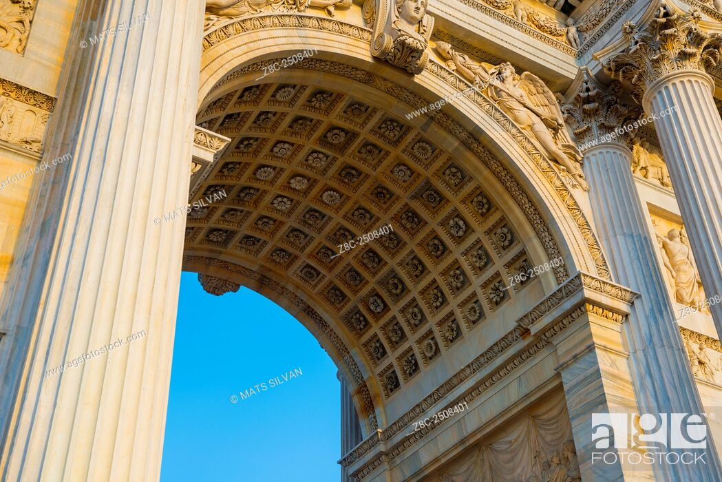 Stock Photo: Peace arch in Milan, Italy.