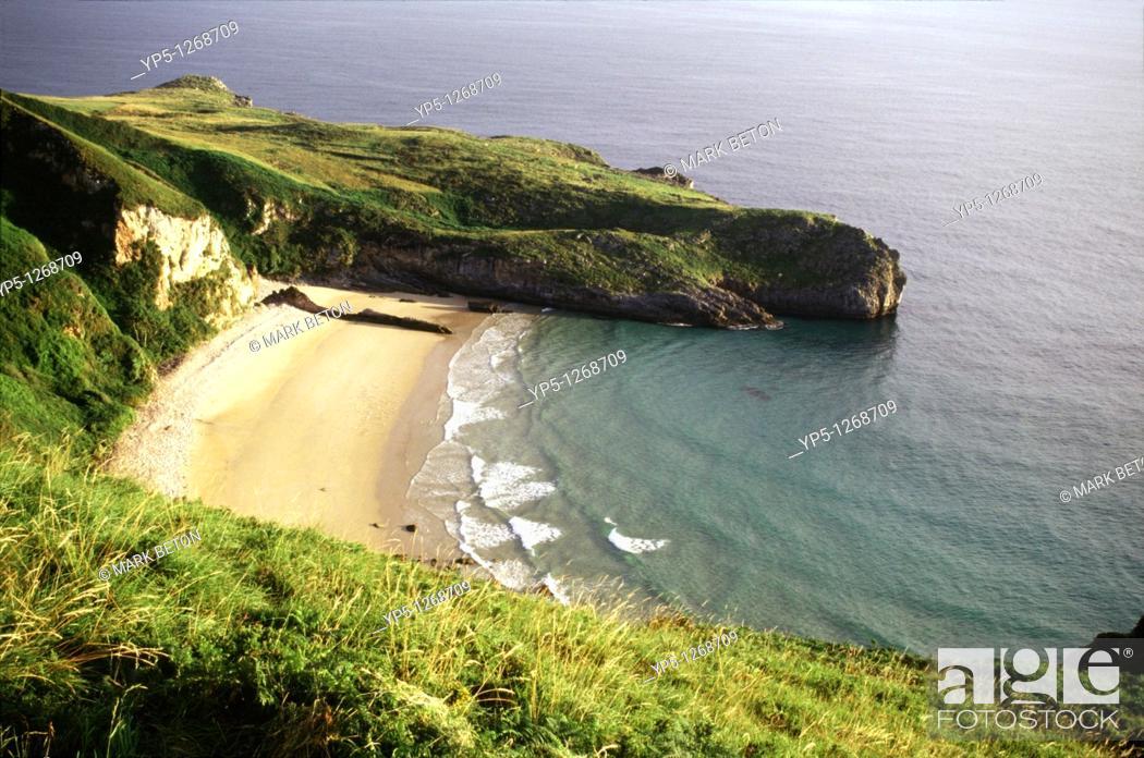 Stock Photo: Coastline near Andrin Asturias North Spain.