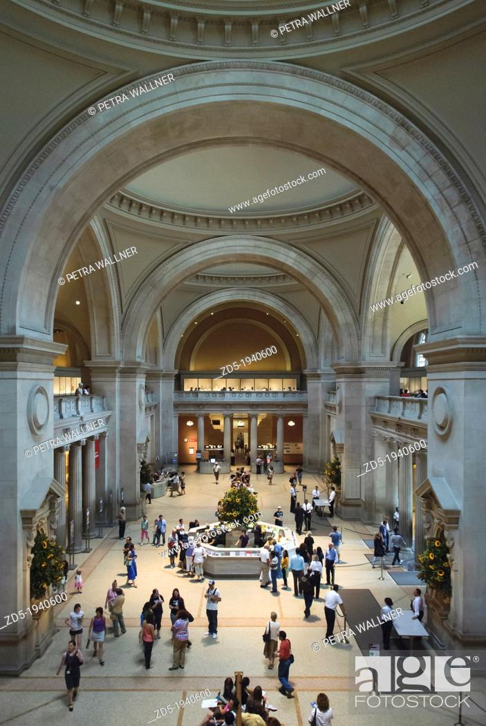 Stock Photo: The Great Hall, Metropolitan Museum of Art, New York City, New York, USA.