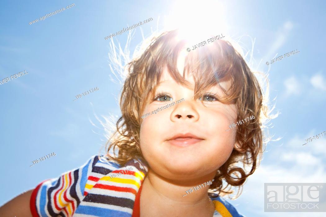 Stock Photo: outdoor portrait of child.