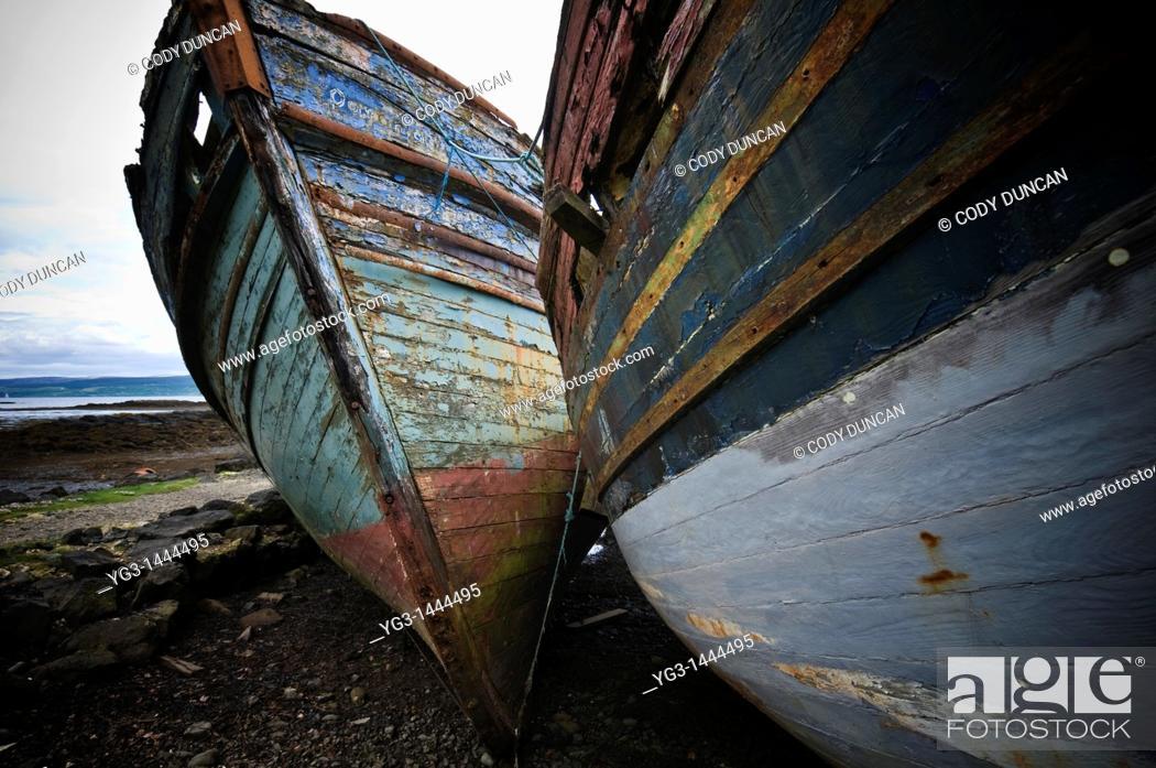 Stock Photo: Abandoned boats, Salen, Isle of Mull, Scotland.