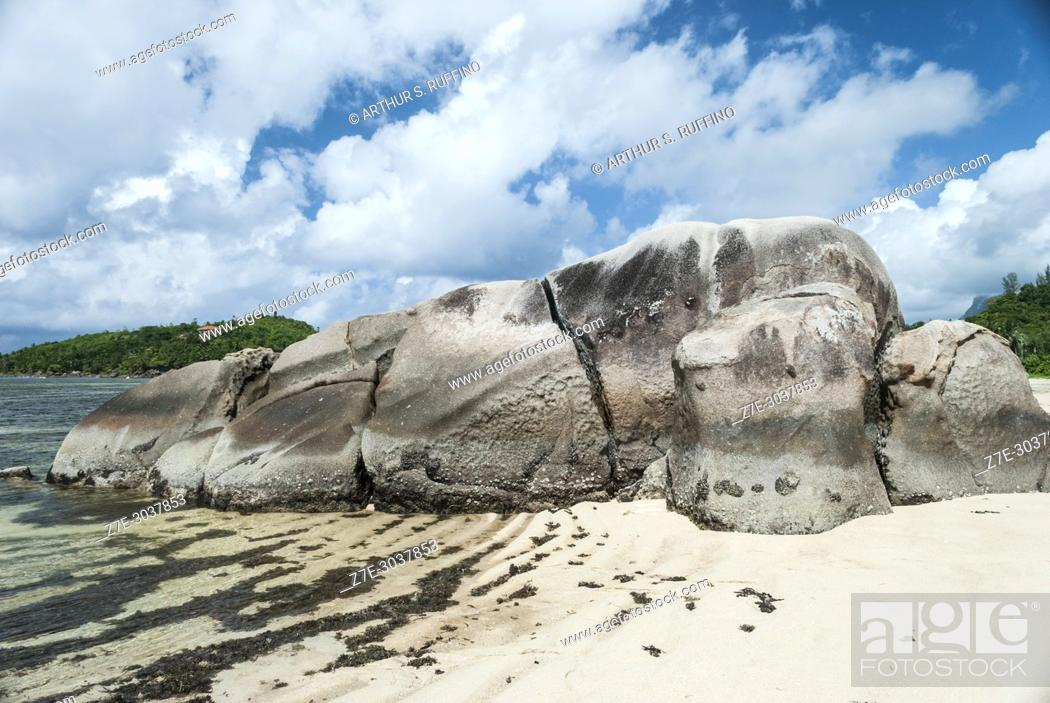 Stock Photo: Rock formations. Anse Boileau Beach, Mahé. Mahé is the largest island of Seychelles, an archipelago off the East Coast of Africa.