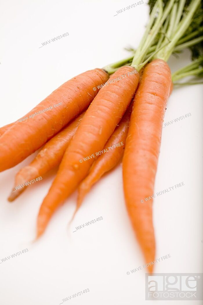 Stock Photo: Bunch of carrots.