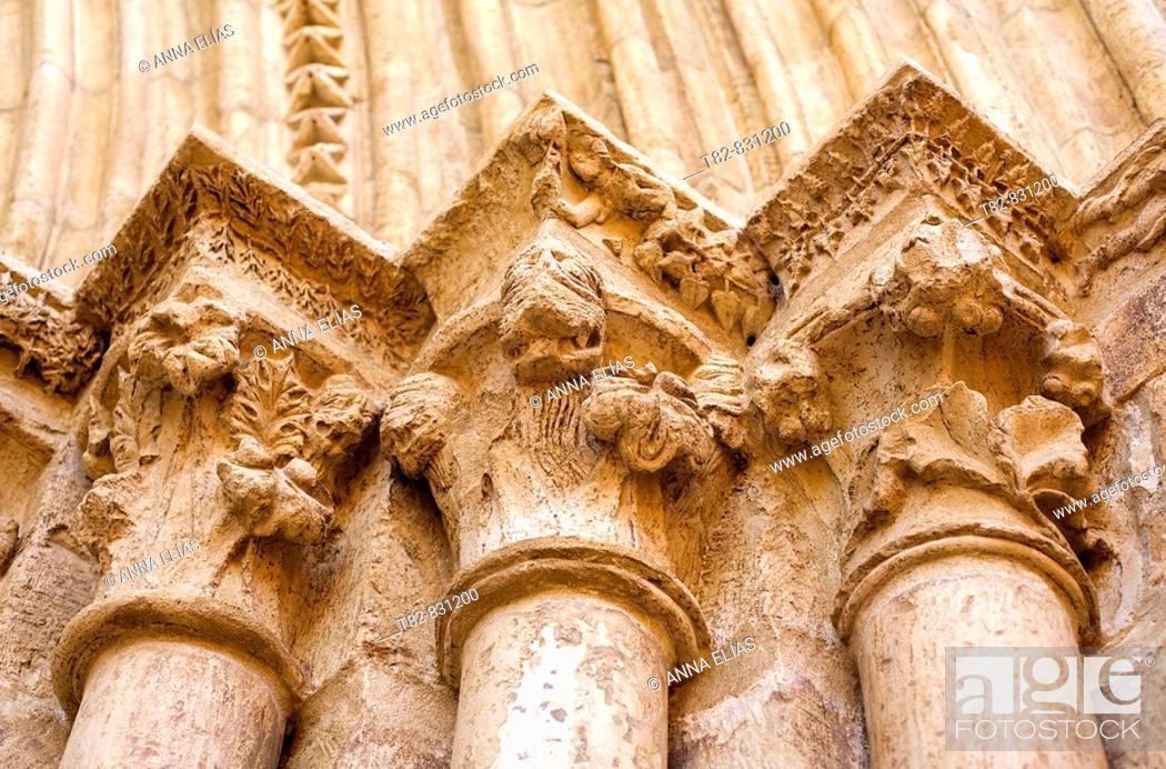 Stock Photo: Architectural detail, church of El Salvador, Cifuentes. La Alcarria, Guadalajara province, Castilla-La Mancha, Spain.