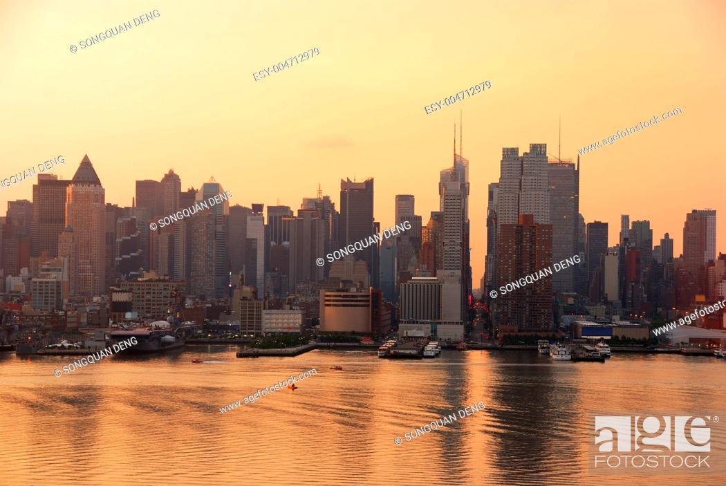 Stock Photo: Times Square skyline, New York City.