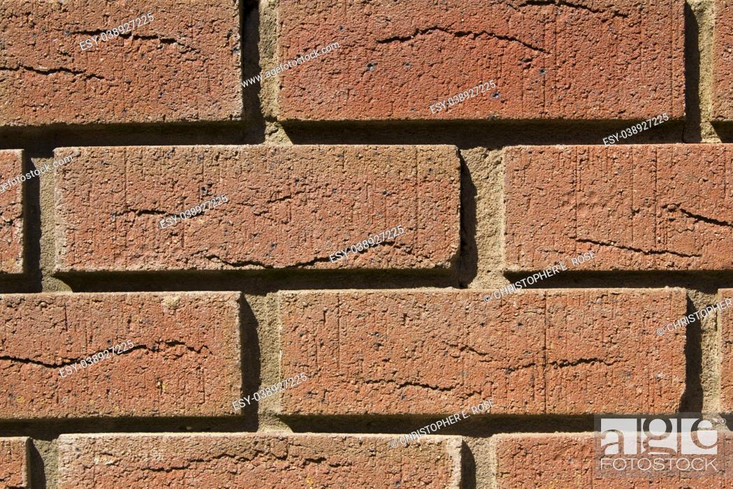 Stock Photo: Brick wall full frame close up.