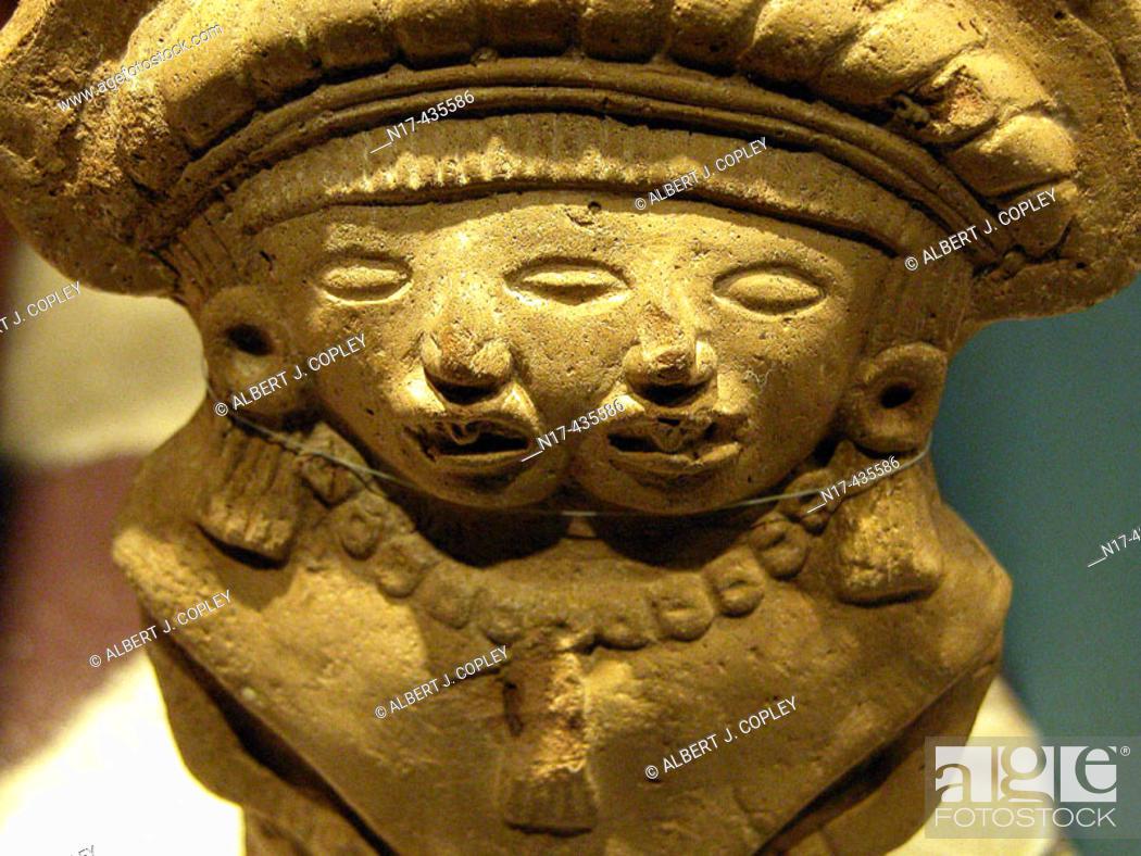 Stock Photo: Maya sculpture in museum, Mérida. Yucatán, Mexico.