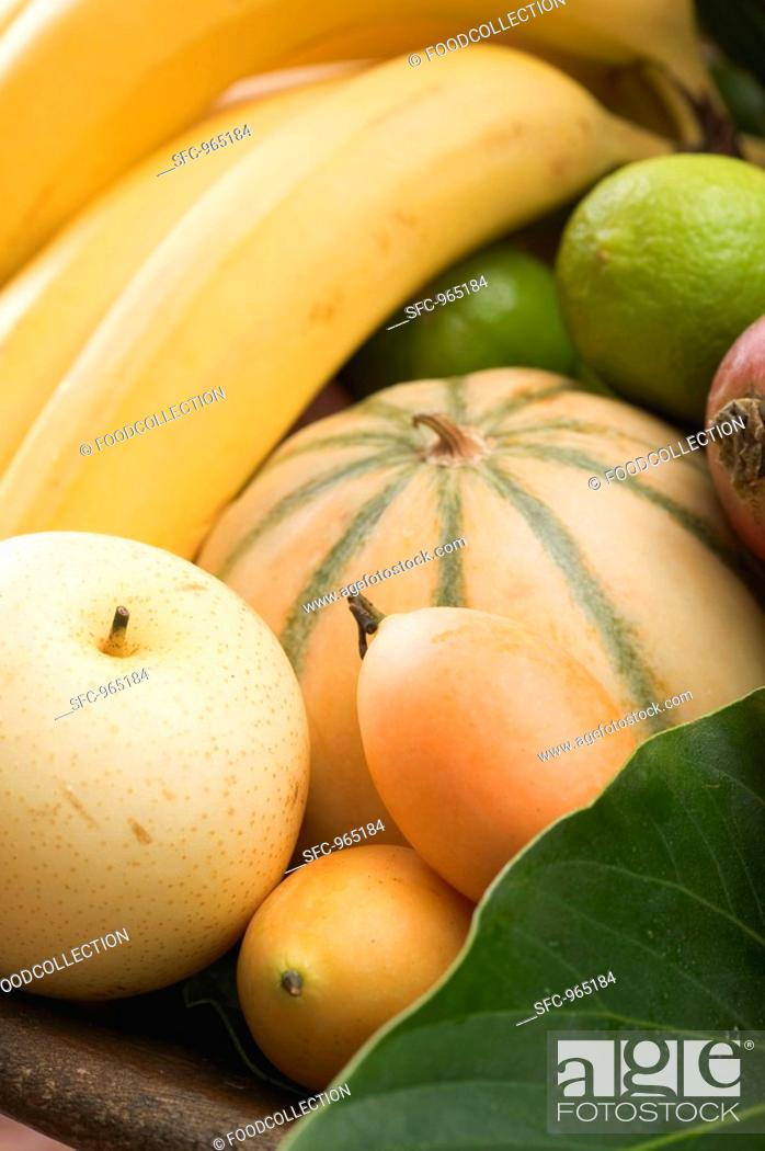 Stock Photo: Assorted exotic fruits.