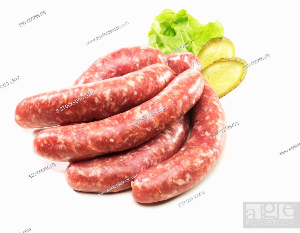 Imagen: Raw sausages Bratwurst.