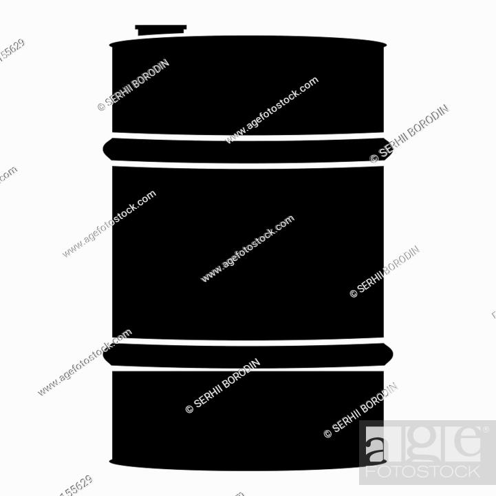 Stock Vector: Oil baller icon black color vector illustration flat style simple image.