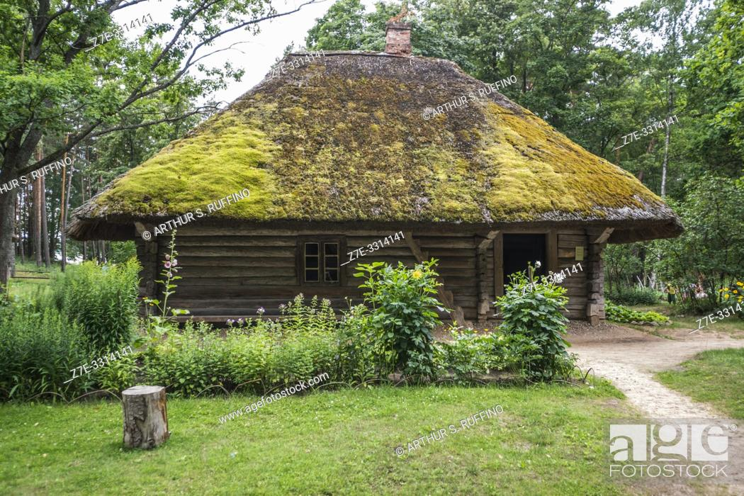 Stock Photo: Traditional architecture of the provinces. Latvian Ethnographic Open-Air Museum. Riga, Latvia, Baltic States, Europe.