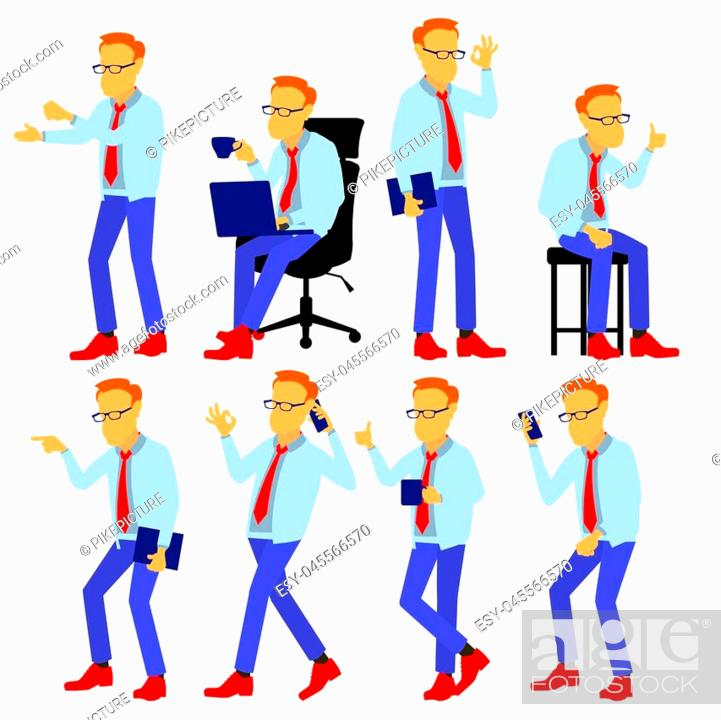 Stock Vector: Man Creative Person. Design Element. Isolated Flat Illustration.
