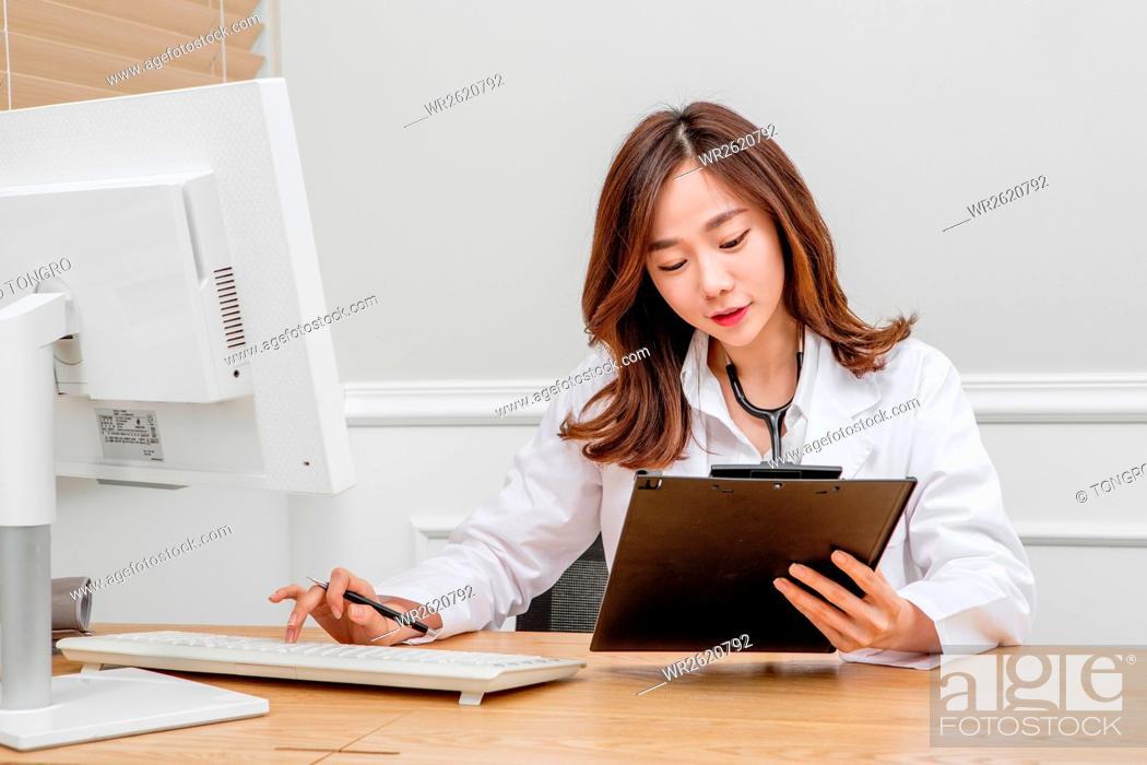 Stock Photo: Female doctor.