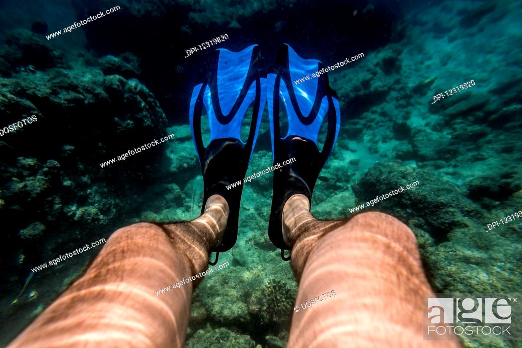 Stock Photo: Snorkeling in Benguerra Island, the second largest island in the Bazaruto Archipelago; Mozambique.
