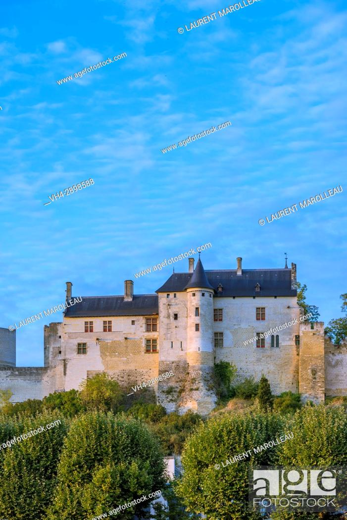 Stock Photo: The Logis Royal of the Fortress of Chinon. Indre-et-Loire, Central Region, Loire Valley, France, Europe.