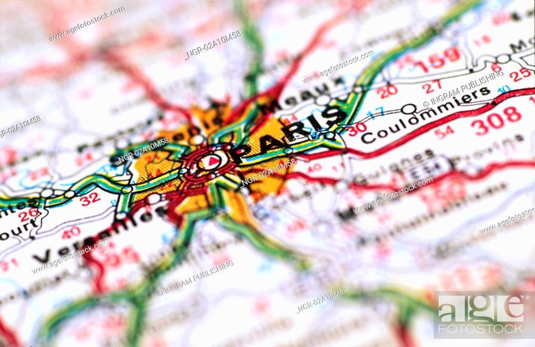 Stock Photo: Map of Paris France.