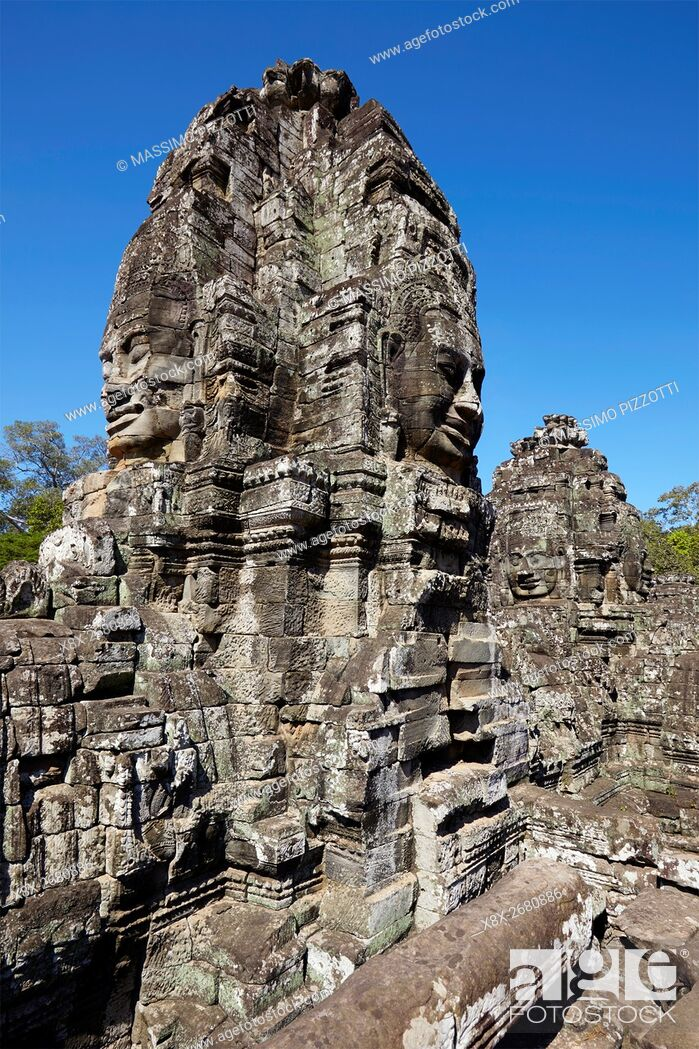 Imagen: The serenity of the stone faces of Bayon temple, Siem Reap, Cambodia.