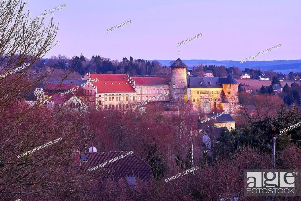 Stock Photo: Voigtsberg Castle in Oelsnitz, Vogtland, Saxony, Germany.
