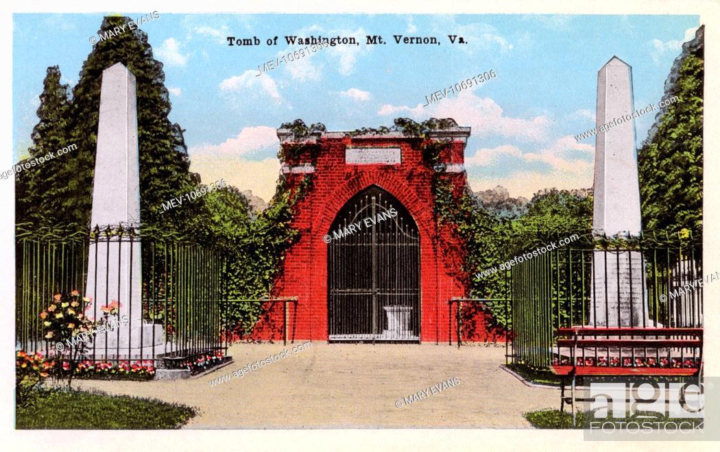 Stock Photo: George Washington's Tomb - Mount Vernon, Virginia.