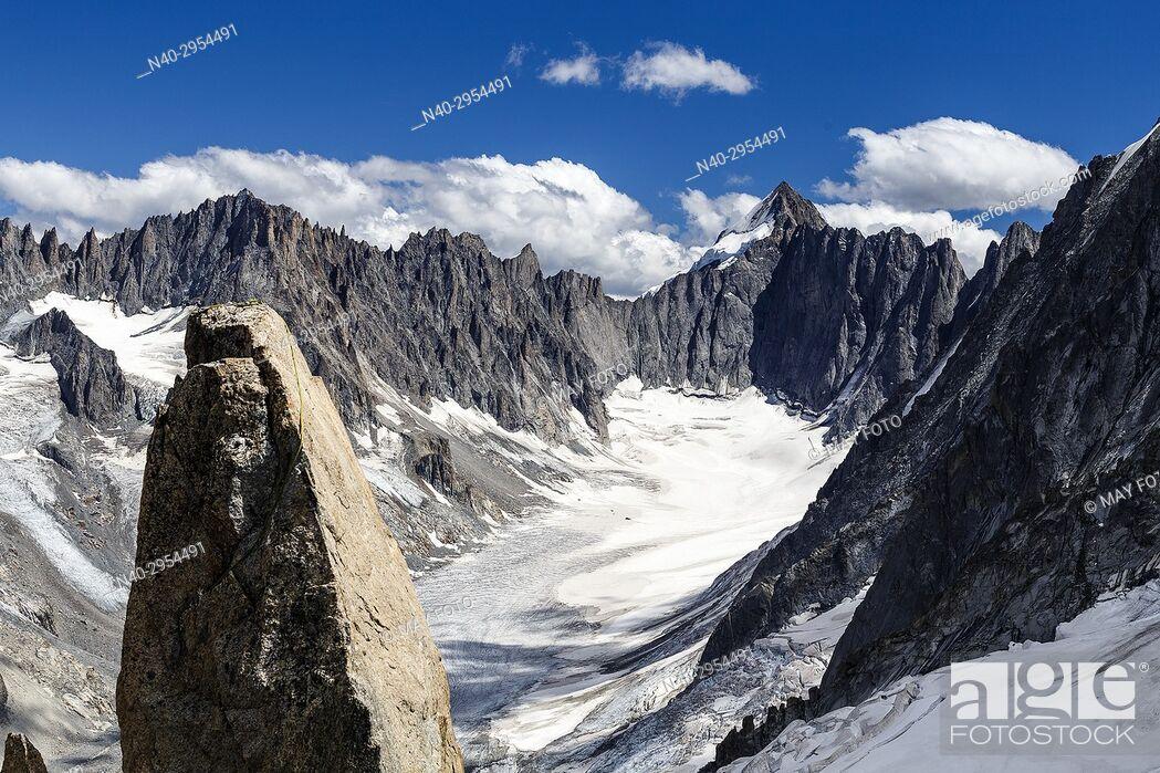 Imagen: Chamonix, Glacier d'Argentière, Lac Blanc, Haute Savoie, France, Europe.