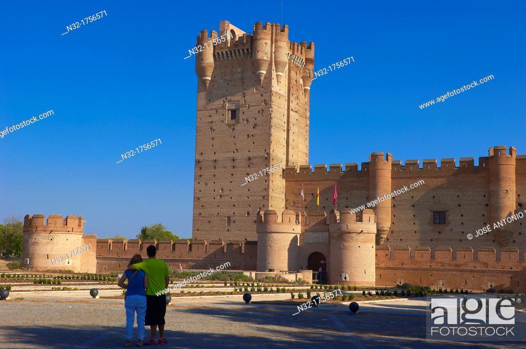 Stock Photo: La Mota Castle 15th century, Medina del Campo, Valladolid province, Castilla-León, Spain.