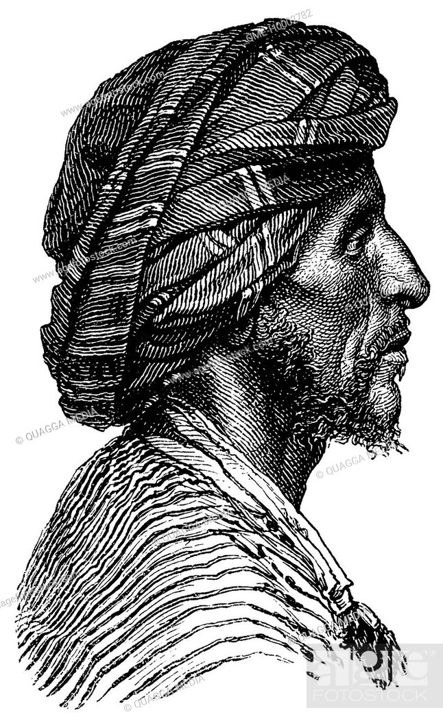 Stock Photo: Portrait of an Arab from Aden.