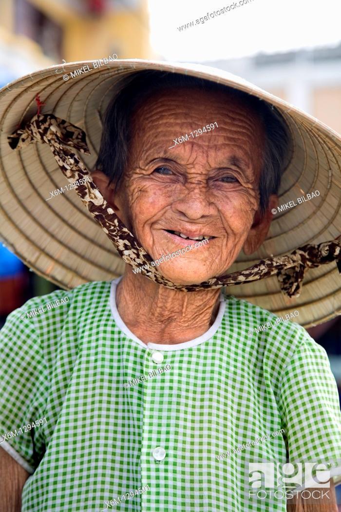 Stock Photo: old woman portrait  Hoi An, Vietnam, Asia.