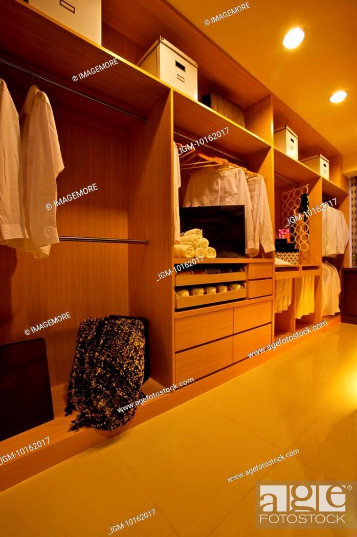 Stock Photo: Modern Interior Design - Walk-In Closet.