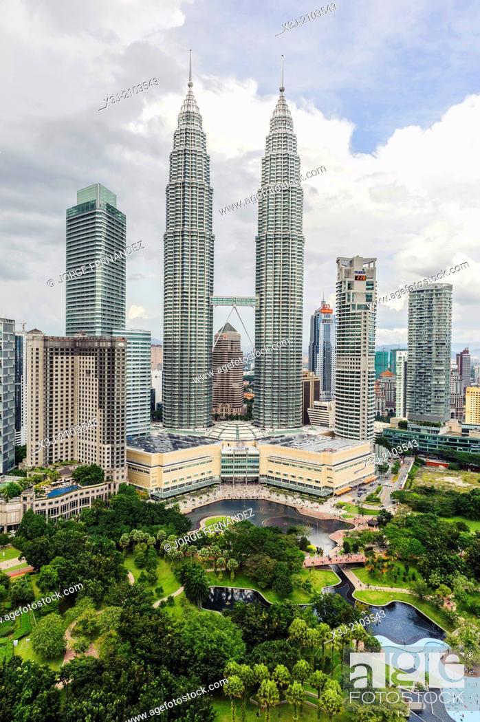 Stock Photo: Petronas towers, Kuala Lumpur, Malaysia, Asia.
