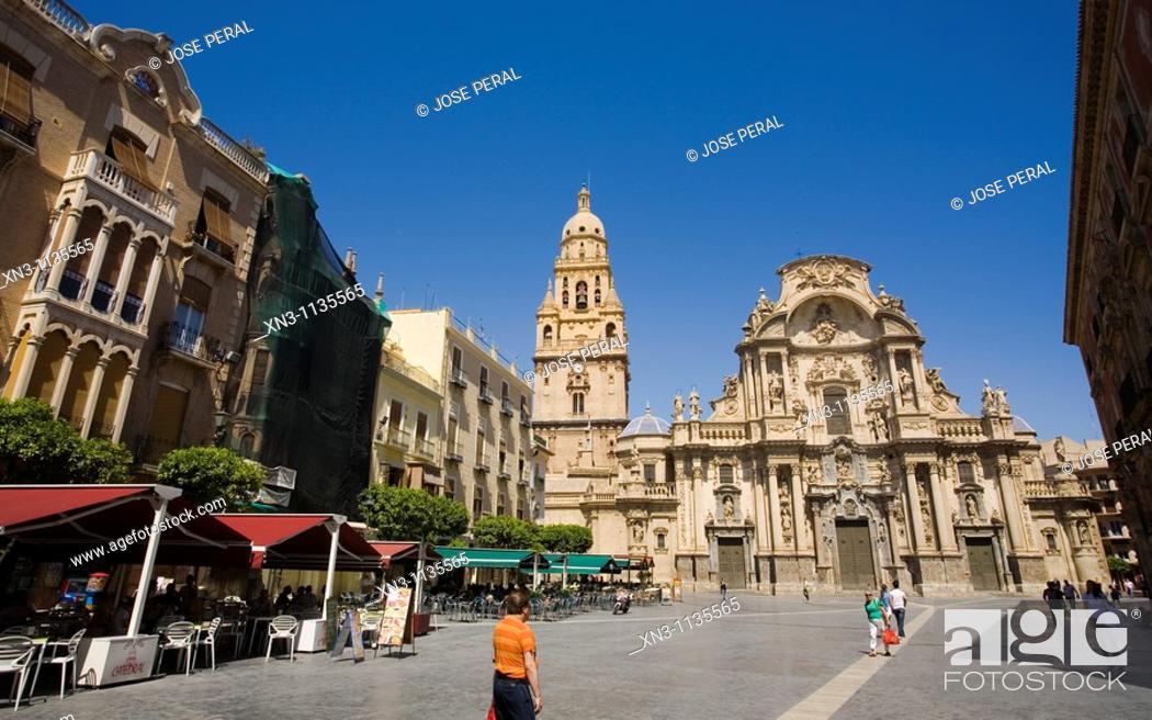 Stock Photo: Cathedral of Santa Maria. Murcia. Spain.