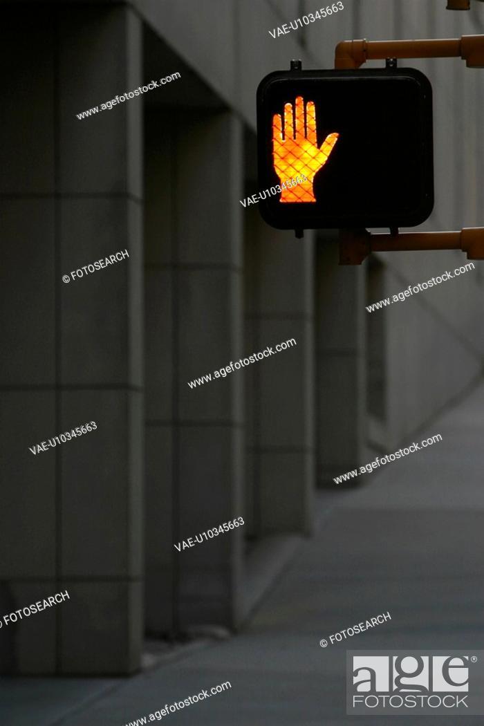 Stock Photo: traffic, signal, guide, pole, figure, orange.
