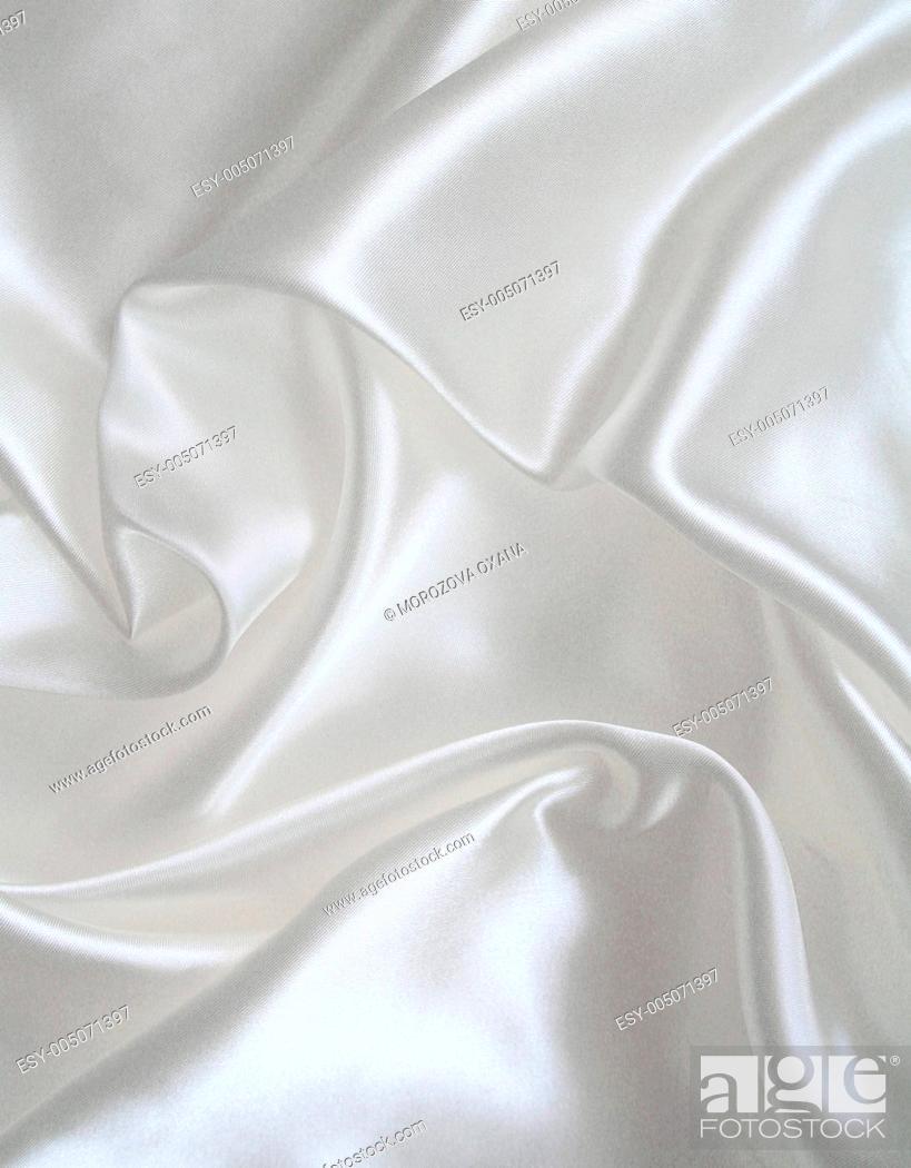 Stock Photo: Smooth elegant white silk.