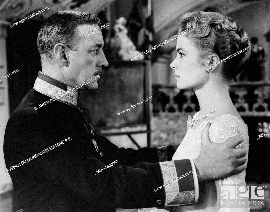 The British Actor Alec Guinness Holds The Shoulders Of The Beautiful Grace Kelly In A Scene Of The Stock Photo Picture And Rights Managed Image Pic Mdo 1800000 Agefotostock