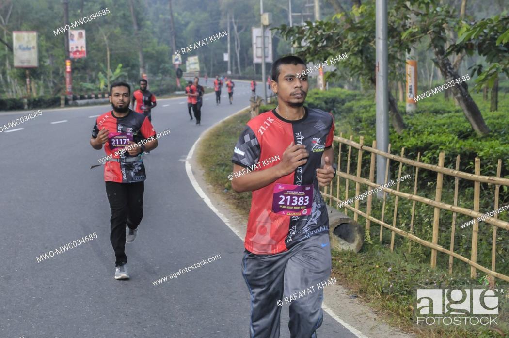 Imagen: Sylhet, Bangladesh. 4th December 2020. The 'Brandslencer Sylhet Half Marathon 2020' was organized for the first time in Sylhet.