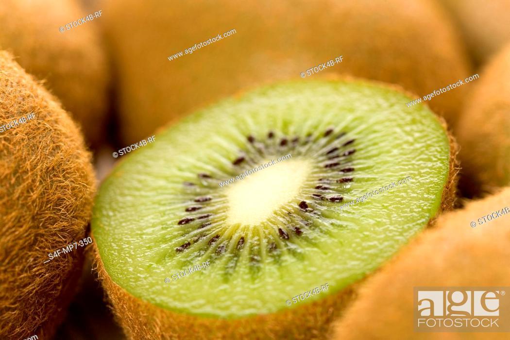 Stock Photo: Detail of kiwis.