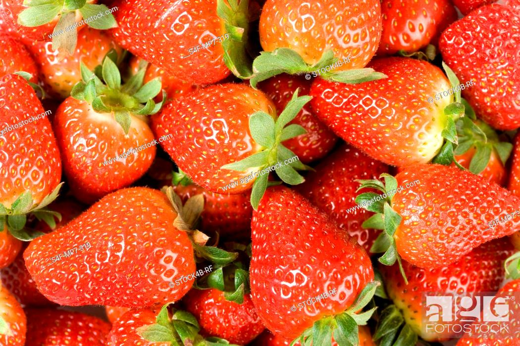 Stock Photo: Detail of strawberries.