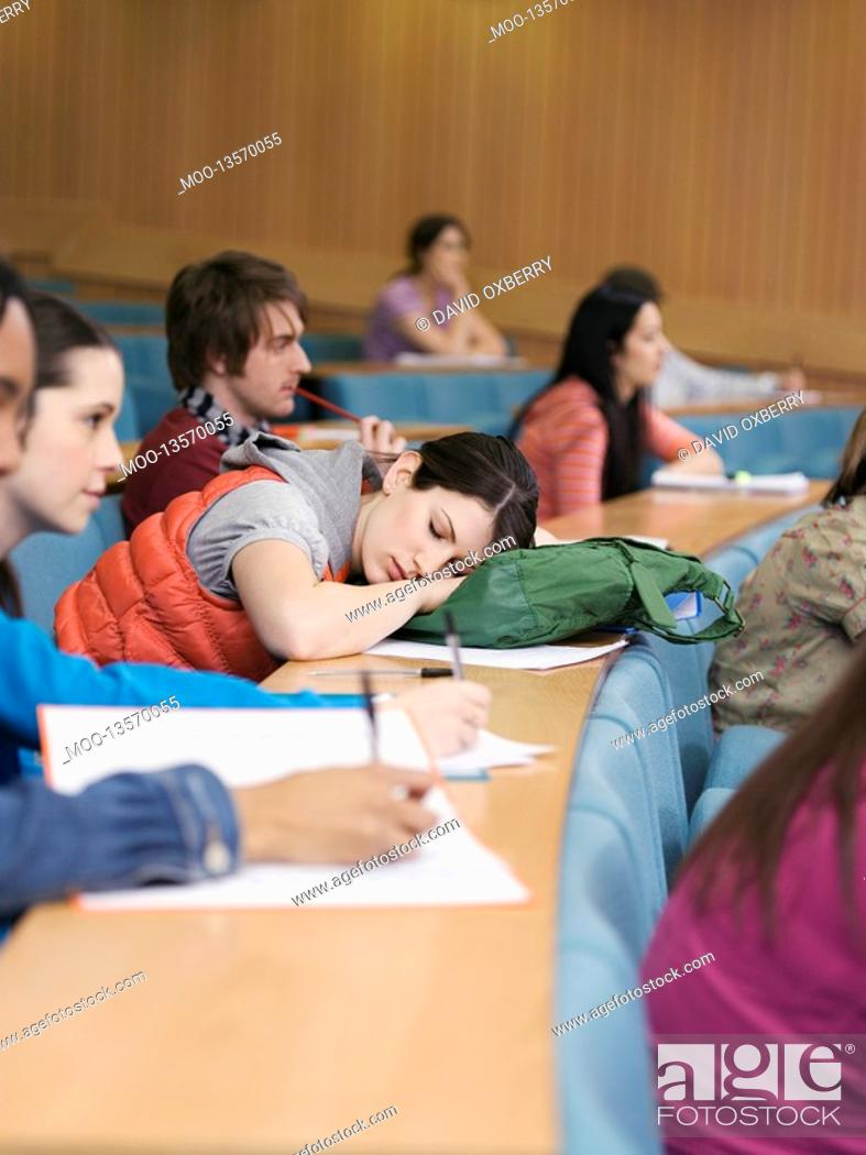 Stock Photo: Students in lecture room.