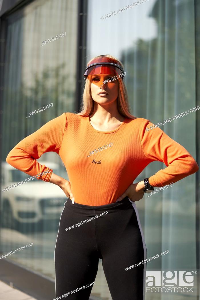 Stock Photo: woman wearing futuristic fashion style.