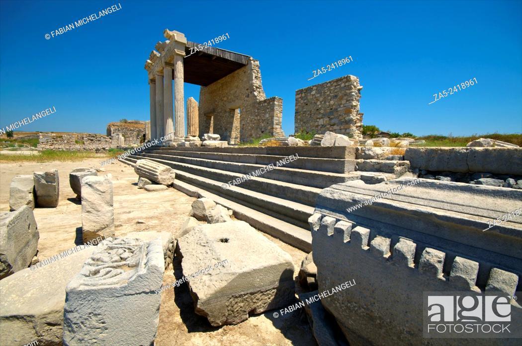 Stock Photo: The Ionic Stoa. Miletos. Anatolia, Turkey.