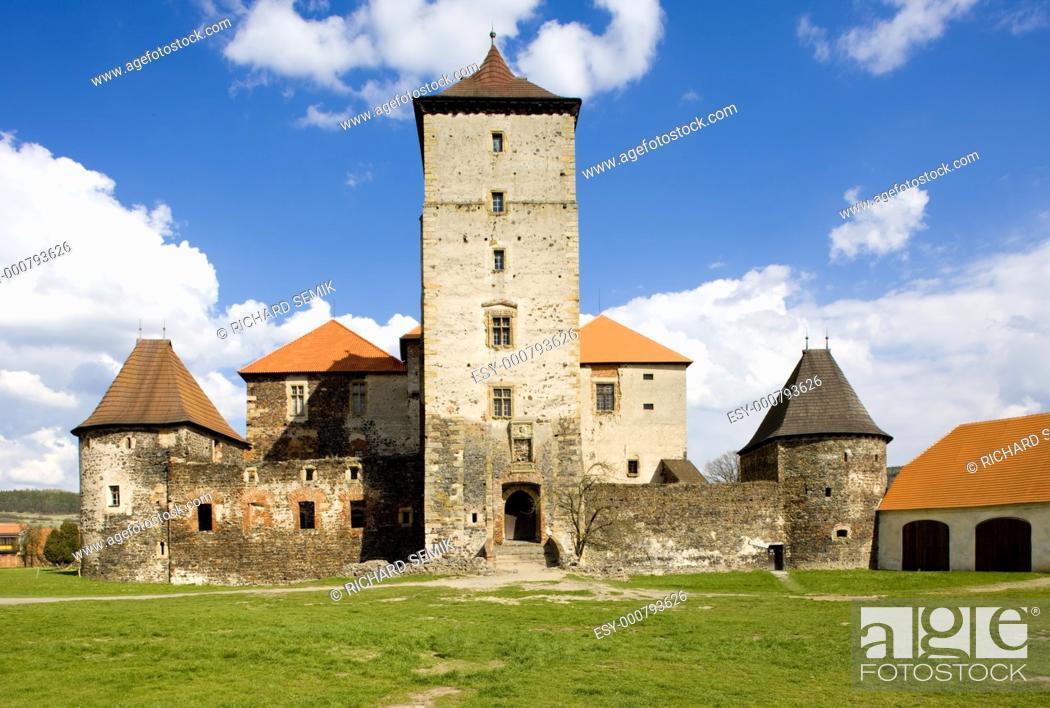 Stock Photo: Water Castle Svihov, Czech Republic.