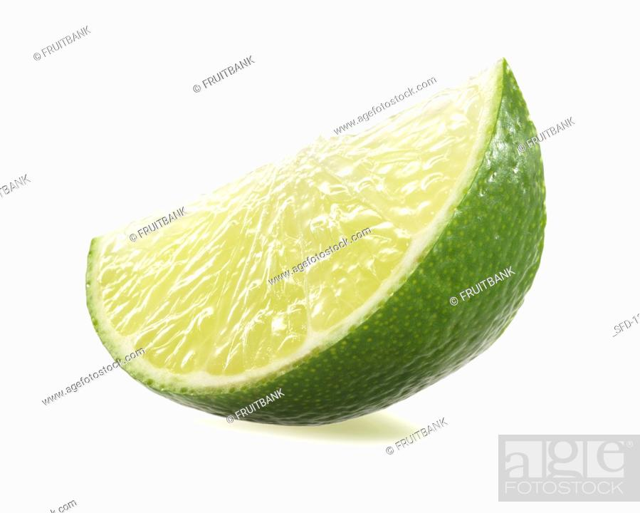 Stock Photo: Lime wedge.