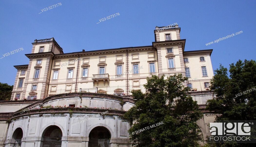 Stock Photo: Limbiate, Lombardy, Italy. Villa Pusterla Crivelli Arconati is an eighteenth century villa situated in Mombello, (fraction of Limbiate in the Province of Monza.