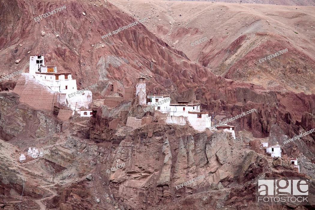 Stock Photo: Basgo Monastery is a Buddhist monastery in Basgo, Ladakh, India.