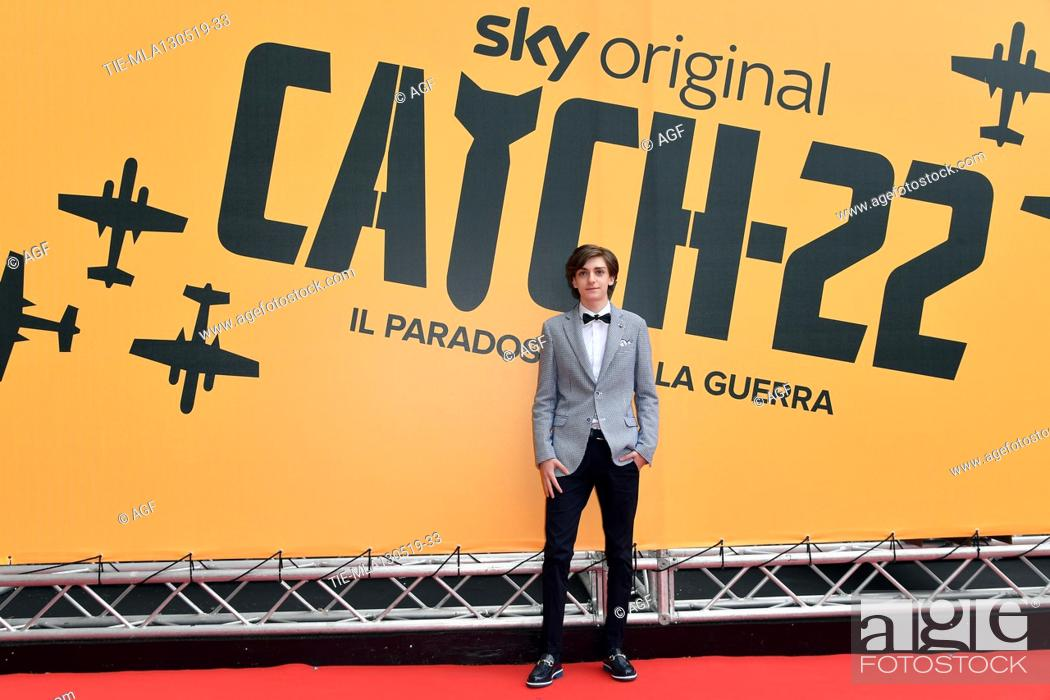Stock Photo: Domenico Cuomo during 'Catch-22' TV show photocall, Rome, Italy - 13 May 2019.